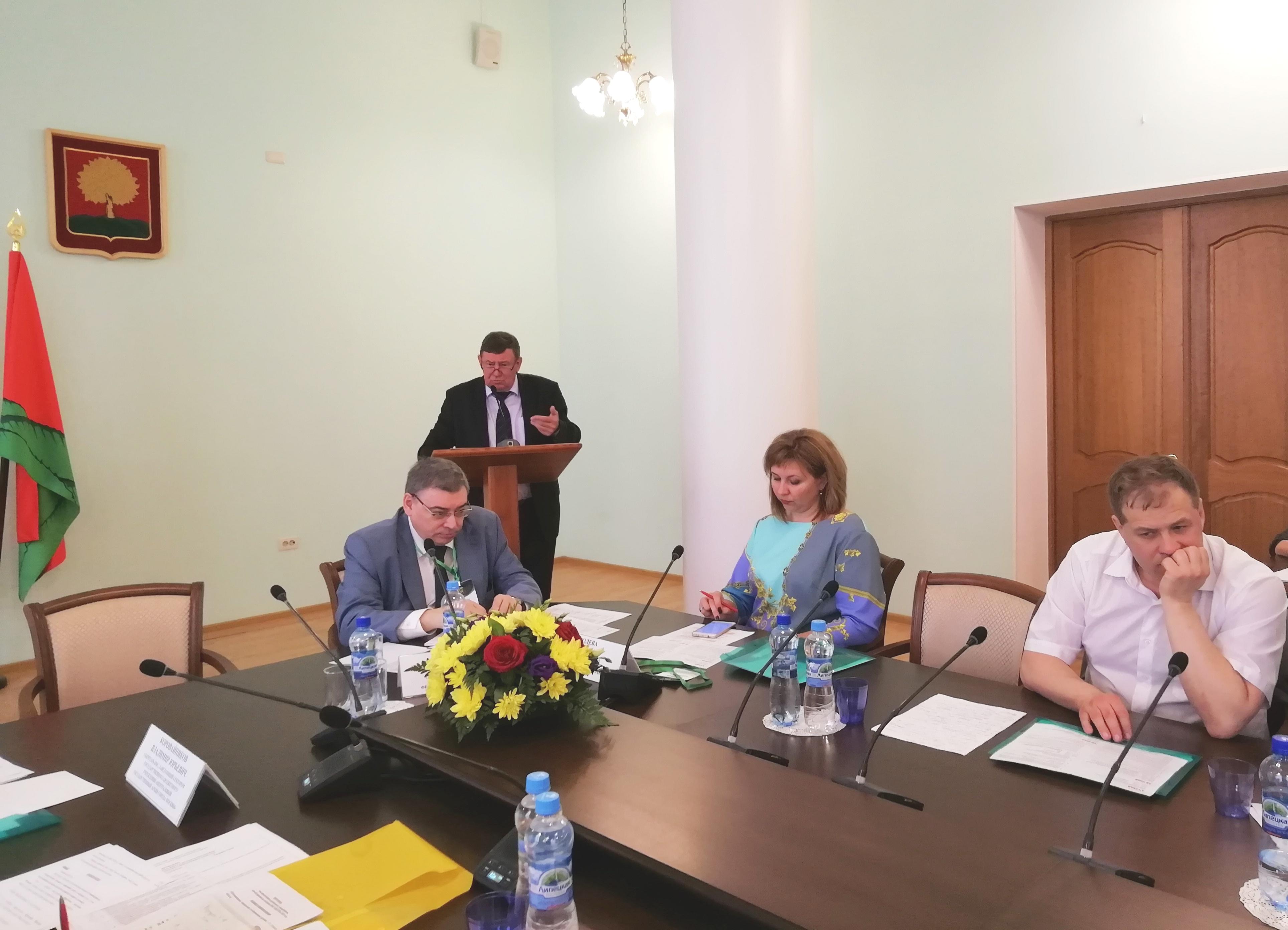 Выступление директора Н. М. Бородулина на совещании-семинаре НМС архивных учреждений ЦФО РФ 15 мая 2019 г. в г. Липецке.