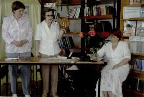 Выступление В.Т. Дорожкиной в Сатинской библиотеке Сампурского района. 2006 год