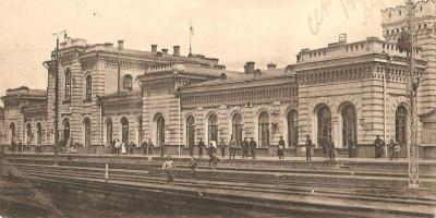 Железнодорожная станция Тамбов. Вокзал со стороны пути.