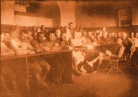 Занятия с личным составом в казарме (действующая армия). 28 октября 1916г. Коллекция ф/д. Оп. 4. Ед.хр. 445