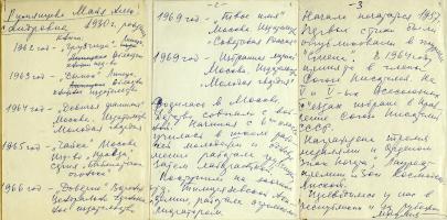 Автобиография Майи Александровны Румянцевой. 1974 г.