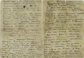 Письмо Алексея Архиповича Захарова из действующей армии родителям. Не ранее января 1944 г. Ф. Р-1234. Оп. 4. Д. 4. Л. 1, 1об.