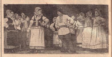 Выступление колхозного хора Избердеевского района Тамбовской области на областном смотре художественной самодеятельности
