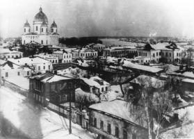 Панорама города Моршанска. Вид на Троицкий собор.