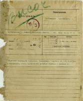 Телеграмма императора Николая II с благодарностью населению Тамбовской губернии за готовность защищать Родину. 22 июля 1914 г. Ф. 4. Оп. 1. Д. 8713. Л. 155