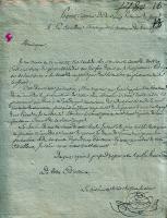 Письмо военнопленного капитана Паго тамбовскому губернатору. Декабрь 1812 г. Ф. 4. Оп. 1. Д. 295. Л. 16.