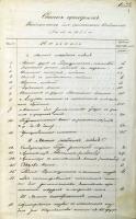 Из перечня приборов, необходимых для физического кабинета гимназии. 28 июня 1844 г. Ф. 107. Оп. 1. Д. 67. Л. 1